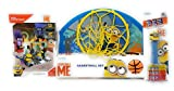 Missing Link Connections Despicable Me 3 Minion Basketball Set with Mega Construx Liar Break-in Minion Pez Dispenser and Candy