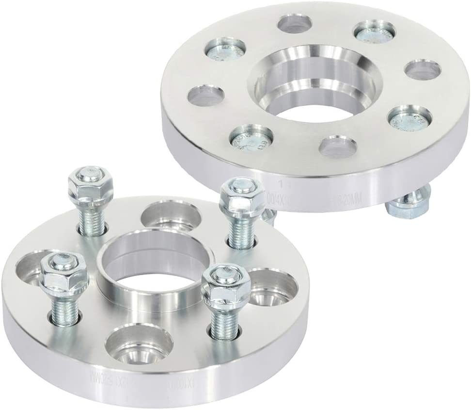 LSAILON 4X 20mm Wheel Spacers Adapters 4 Lug 4x110mm to 4x100mm 12x1.5 Studs 54.1mm fits for Toyota Prius for Toyota MR2 for Toyota Tercel