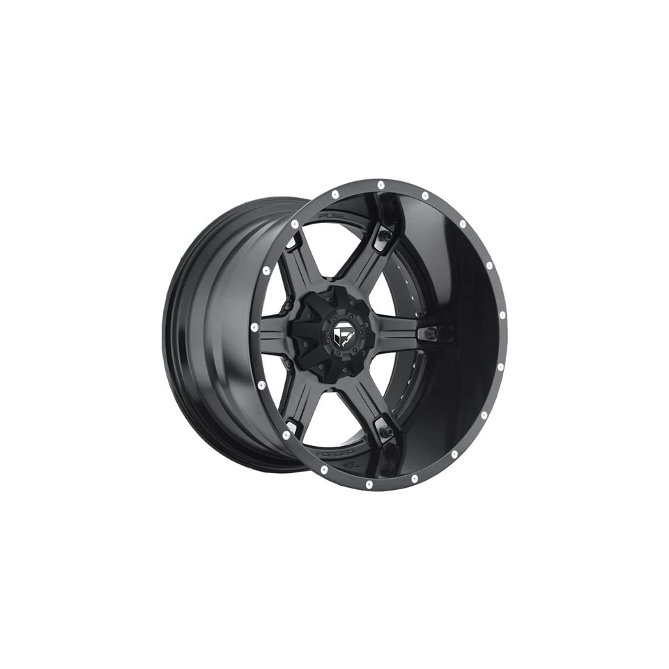 Fuel Driller 20 Black Wheel / Rim 5x4.5 & 5x5.0 with a  44mm Offset and a 78.1 Hub Bore. Partnumber D25620202647