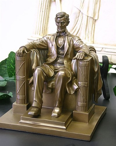 8 13 Inch Abraham Lincoln Washington Dc Memorial Statue Figurine