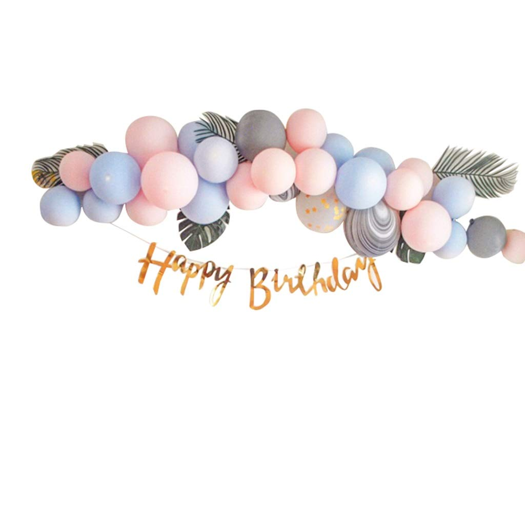 LIUballoonZ Balloon Chain, blu Baby Birthday Party Decoration Background Palloncini a Muro Bambino Adulto Party Palloncini Decorativo (colore   Blu)