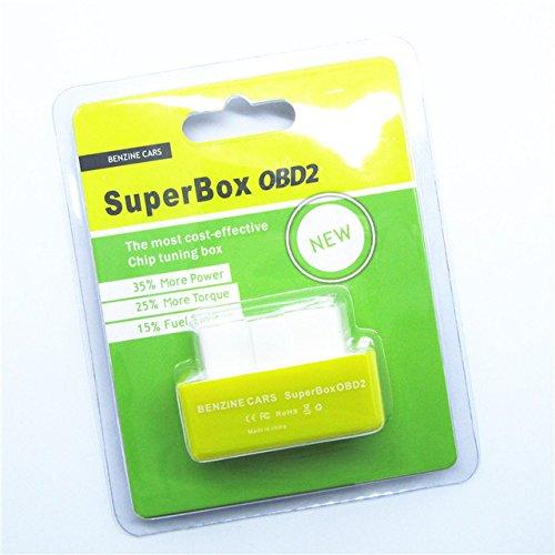 Chip tuning Super Box Dongle OBD2,giallo, per benzina, per prestazioni più elevate, adatto a tutte le marche di auto giallo per prestazioni più elevate ESLT