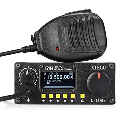 Xiegu G1M G-Core Portable SDR HF Transceiver QRP Quad Band Short-Wave 5W SSB CW AM 0.5-30MHz Mobile Radio Amateur Ham: Electronics