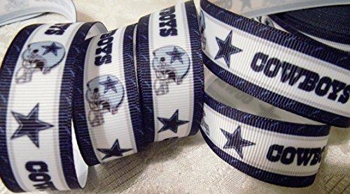 Grosgrain Ribbon - *COWBOYS INSPIRED SPIRIT PRINT #3* - 7/8