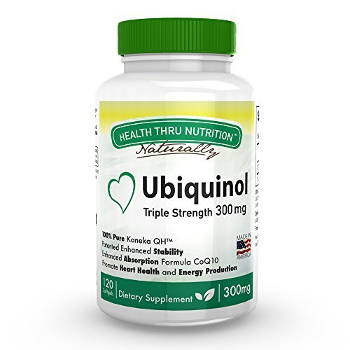 Ubiquinol 300mg 120 Softgels EAF CoQ10 (Enhanced Absorption Formula Coenzyme Q10 as Kaneka QH) by Health Thru Nutrition (Nutrition 300 Book)