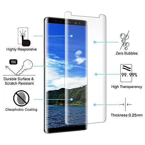 Huawei Glass Screen Protector, Loopilops Huawei [206H Hardness] [Advanced Definition] [Scratch Resistance] [Bubble Free] Tempered Glass Screen Protector