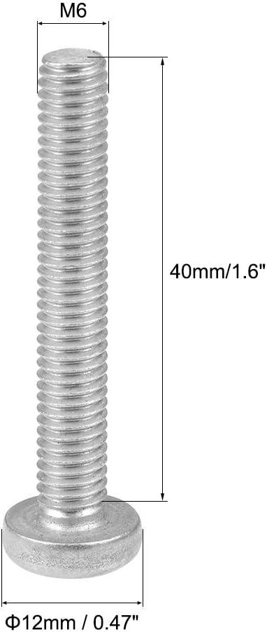 uxcell M6x22mm Machine Screws Pan Phillips Cross Head Screw 304 Stainless Steel Fasteners Bolts 10Pcs