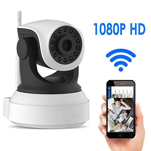 Smart Wireless Security Camera, Banne Baby Indoor Wifi Security Monitor System 1080P HD Pan 355° Tilt 80° Camera for Android/iOS/iPhone/iPad/Tablet