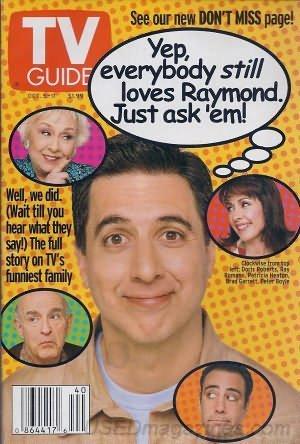 TV Guide Oct 5-11 2002 Everybody Loves Raymond, Doris Roberts, Ray Romano, Patricia Heaton, Brad Garrett, Peter Boyle