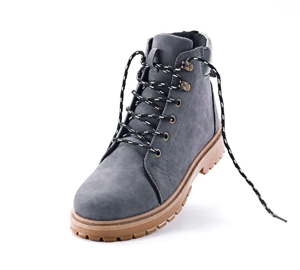 FuweiEncore Winter-Männer Casual Stiefel High-Top-Tooling Retro-Trend (Farbe   Grau, Größe   39)