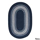 Cheap Colonial Mills Cozy Cabin Braided Reversible Rug USA MADE (6′ x 9′) Navy
