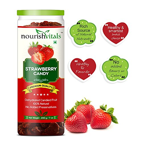 Nourish Vitals Strawberry Dried Fruit (Dehydrated Fruits) – 200 gm
