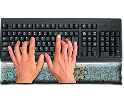 Satin Brocade & Crushed Velvet Keyboard Wrist Rest Pad