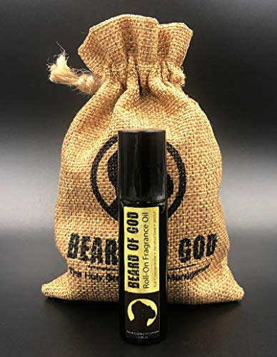 Beard of God Warm Tobacco Pipe - Roll-On Fragrance Body Oil Cologne & Sack - 1/3oz