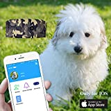Camera GPS Locator, Anti-Lost Pet Tracker Device With Camera Function [Remote Monitor Safety Fence IP67 Waterproof] Only For iOS
