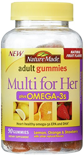 Nature Made Multi for Her Plus Omega-3 Adult Gummies, 90 Count (Multivitamin Men Nature Made compare prices)