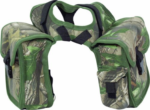 Cashel Quality Deluxe Small Horse Saddle Pommel Horn Bag, Padded Pockets, Camera or Cell Phone Pocket, 600 Denier Material, Size: Small Color: Camo