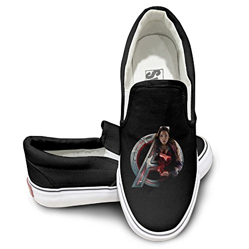 Amone Scarlet Witch Avenge Skate Unisex Flat Canvas Shoes Sneaker Black 39 - Scarlet Witch New Avengers Costume