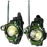 2pcs Walkie Talkies Watches Toys for Kids 7 in 1 Camouflage 2 Way Radios