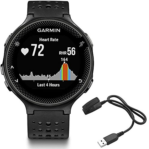 (Garmin Forerunner 235 GPS Sport Watch - Black/Gray - Charging Clip Bundle Includes Forerunner 235 GPS and Charging Clip)