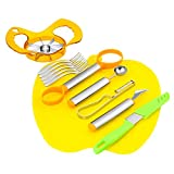 zagtag 8 in 1 Deluxe Fruit Tool Set Gift Box - Carving Knife, Seed Remover, Melon Baller Scoop, Fruit Peeler, Apple Corer, Fruit Knife, Cutting Board and 5 Fruit Forks