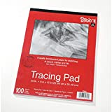 Bulk Buy: Darice DIY Crafts Studio 71 Tracing Paper Pad 25lb Medium Surface 9 x 12 inches (6-Pack) 97490-3