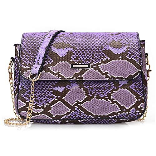 Rebecca Women's Snakeskin Clutch Bag Purse Flap Crossbody Handbags Retro Shoulder Messenger Chain Bags