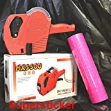 Mx-5500 Eos 8 Digits Price Tag Gun Labeler Labeller + 5000 Pink labels +1 Ink