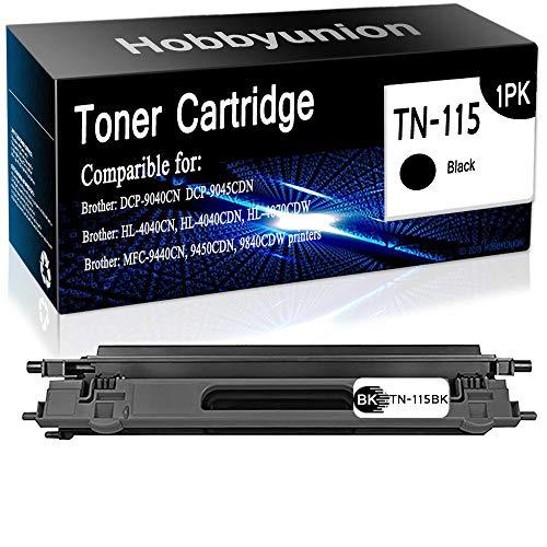 Brother 9045cdn Dcp Laser - Compatible Brother DCP-9040CN DCP-9045CDN Laser Printer Toner Cartridges Black TN115 (TN-115BK, 1-Pack), by Hobbyunion
