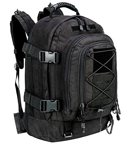 WolfWarriorX Military Tactical Assault Backpack 3-Day Expandable Bag Extreme Water Resistant Molle Rucksack for Outdoors Camping Hiking Trekking