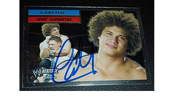 Carlito Colon Signed 2006 Topps Heritage Chrome WWE Card  3 Autograph WWC  Cool - Autographed Wrestling Cards at Amazon s Sports Collectibles Store 826119a35b1c