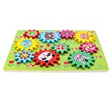 MagiDeal Wooden Gear Puzzle Game for Kids Toddlers, Early Educational Toy Set, Xmas Gift - Forest Animal