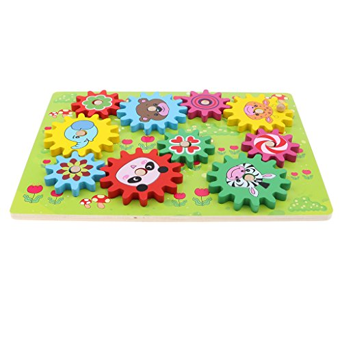 MagiDeal Wooden Gear Puzzle Game for Kids Toddlers, Early Educational Toy Set, Xmas Gift - Forest Animal by Unknown