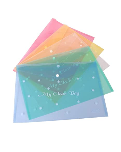GOYAL® My Clear Bag, Document Bag, File, Folder - Set of 12-18 Micron Thickness