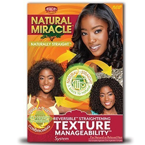 Natural Miracle Texture Manageability System - Pack Of 3 (Transitioning From Relaxed To Natural Hair Products)