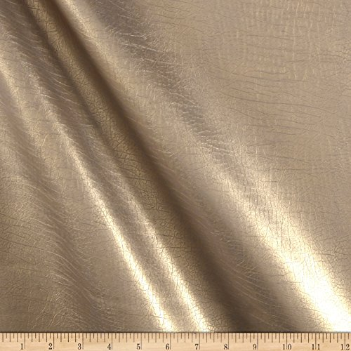 Plastex Classico Faux Leather Solid Gold Fabric by The Yard