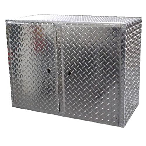 Pit Posse 910 Overhead Storage Shop Diamond Plate Aluminum Cabinet Race Car  Enclosed Cargo Trailer