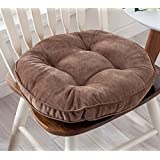 Thicken Round Seat Cushions Sofa Chair Pillow Cushion Chair Pads (coffee)