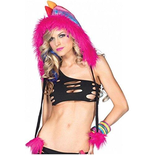[Sparkle Dino Furry Hood with Pom Pom Ties Costume Accessory] (Musketeer Costume Female)