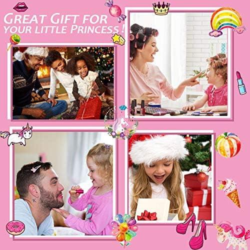 Washable Makeup Girls Unicorn Toys - Real Make Up Set Washable Make up Kit for Toddler Kids Girl Children Princess Pretend Play Christmas Birthday Gift Toys for Girl Aged 3 4 5 6