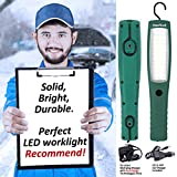 AmeriLuck Commercial Grade Cordless LED Work Light, Rechargeable Portable Lamp Flashlight with Hanging Hooks, Magnetic Base, Professional 3 Modes, 60 LED Diodes Super Bright 1000lumens