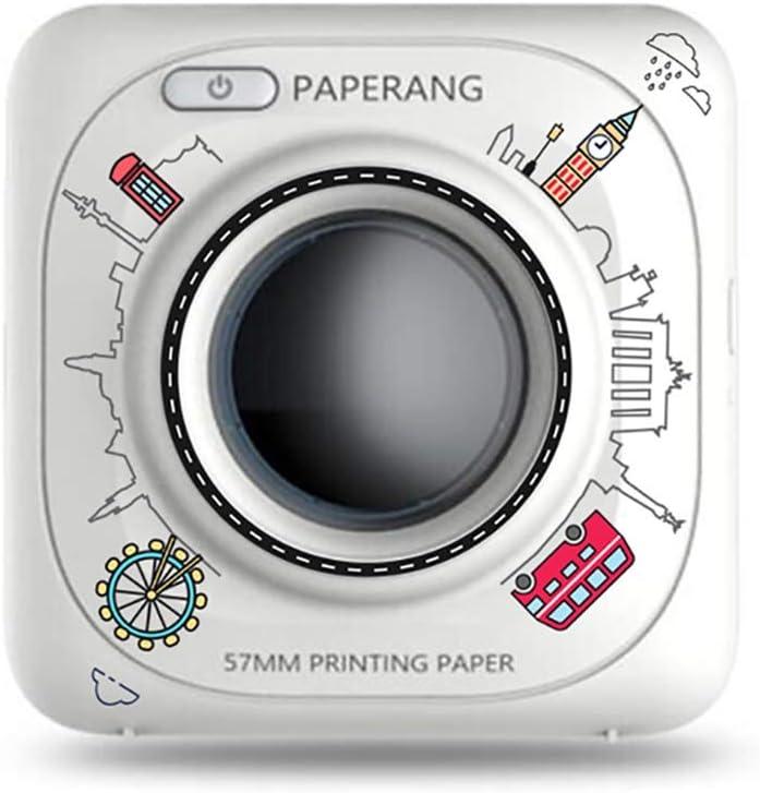 PAPERANG P1/P1s Mini impresora inalámbrica de papel fotográfico portátil Bluetooth instantánea impresora portátil para dispositivos iPhone/iPad/Mac/Android con papeles impresos- P1 City (blanco)