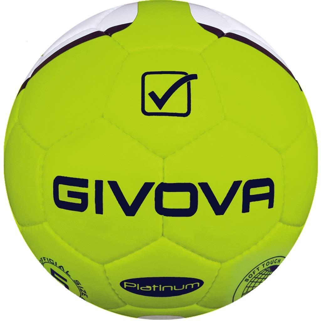 Danza de Vitrina Balón Platinum Givova fútbol, Giallo Fluo/BLU, 3 ...