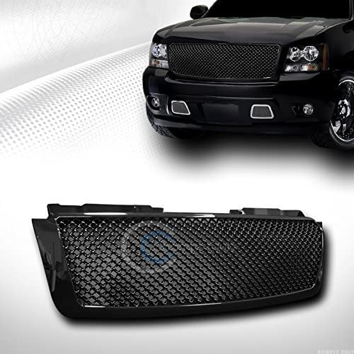 R/&L Racing Black Finished Front Grill Mesh Hood Bumper Grille Cover 2007-2014 for Chevy Avalanche//Tahoe//Suburban