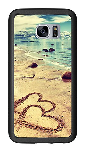 Beach with Hearts in The Sand for Samsung Galaxy S7 G930 Case Cover by Atomic Market -