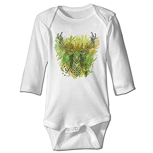 Deer Costume Stag (Fashion Baby Boys & Girls A Whitetail Deer Head Long-sleeve)
