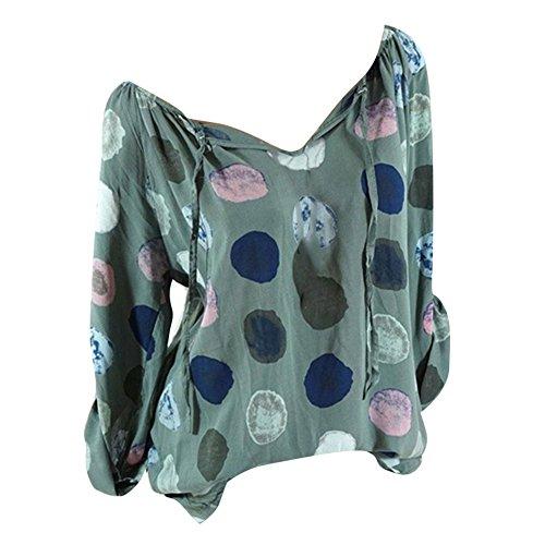 Casual Casual Pullover Blouse T V Tops 5 Scollo Scollo Scollo Donna a a Felpe Lunghe Colore Base Magliette Camicia Felpe da juqilu Donna Magliette Autunno Maniche Allentate di Shirt Elegante wRxAgzq1