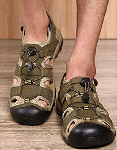 Mens Athletic Sandal Outdoor Sport Sandal Khaki wYgsc