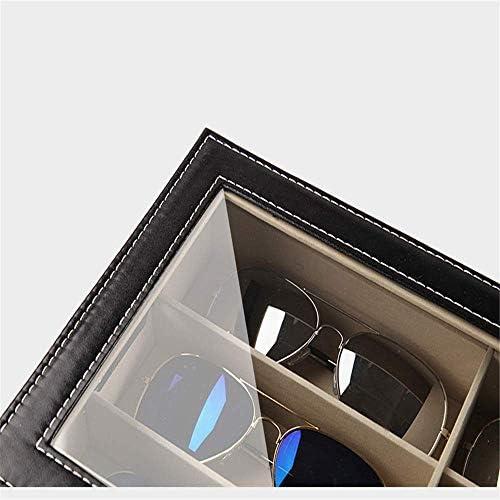 BZM-ZM メガネ収納ボックスディスプレイキャビネット二層の女性の多機能サングラス収納袋マルチレイヤメガネメガネ展示内閣サングラスコレクションボックスレンズスタッカブルストレージがTransparenラック