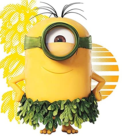 5 Inch Tropical Island Hula Stuart Minions Despicable Me Removable Wall Decal Sticker Art Home Decor Kids Room 5 1 2 Inch Wide By 5 Inch Tall